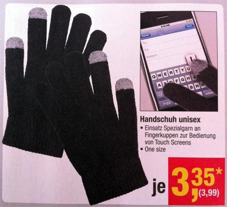 iPhone-Handschuhe in der METRO 3,99 €