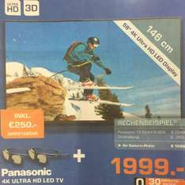 Panasonic tx58axw804 4K LED 3D bei Saturn Sankt Augustin