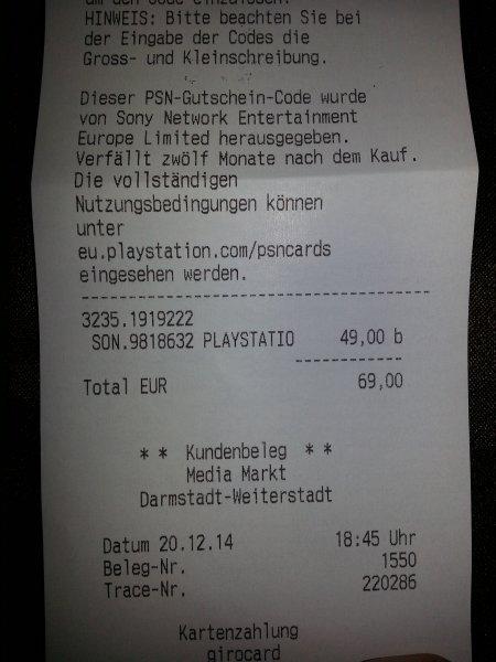 [LOKAL] Playstation TV Media Markt Weiterstadt