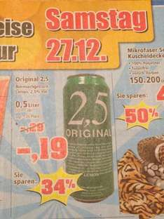 Dosenbier - 2,5 Orginal 0,5l 19ct pro Dose - Thomas Philipps am 27.12.
