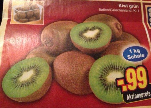 [Netto ohne Hund] Kiwi Grün 1kg für 0,99€ am 27.12 Super Samstag