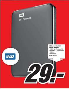 Western Digital Elements Portable 500GB für 29€ LOKAL @ Mediamarkt Mülheim an der Ruhr