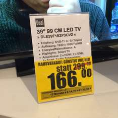 "Dual 39"" LED TV FullHD 200 Hz [Lokal Hamburg]"