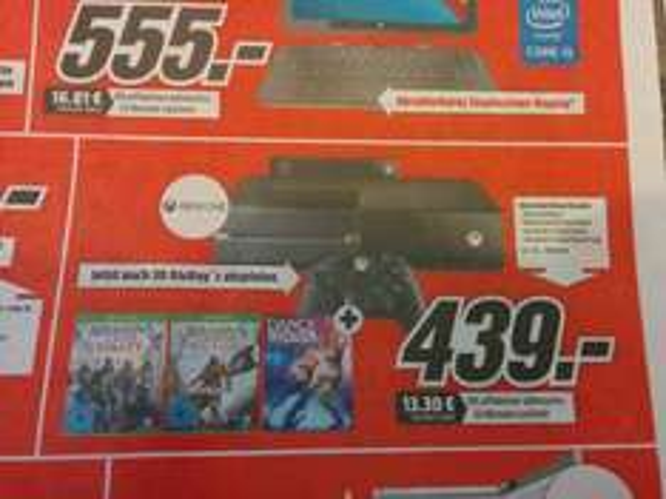 [Lokal Mediamarkt Jena] Xbox One Kinect Bundle + Ac Unity + Ac Black Flag + Dance Central