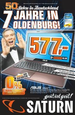 Saturn Oldenburg (REGIONAL) - 7 Jahre Geburtstagswerbung! Viele Preiskracher im PC-Bereich!