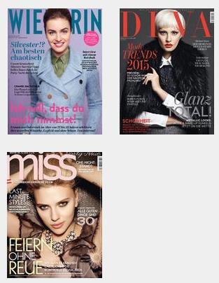 nur für Österreicher - 2 x 2 Ausgaben der Zeitschriften Wienerin, Miss oder DIVA ohne Kündigung