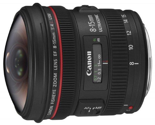Canon EF 8-15mm 1:4 L Fisheye USM Objektiv (filterhalter) schwarz Amazon Blitz-Angebot