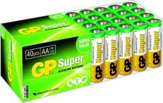 GP LR06 Mignon AA/AAA Super Alkaline (40-er Pack) (Amazon Prime)
