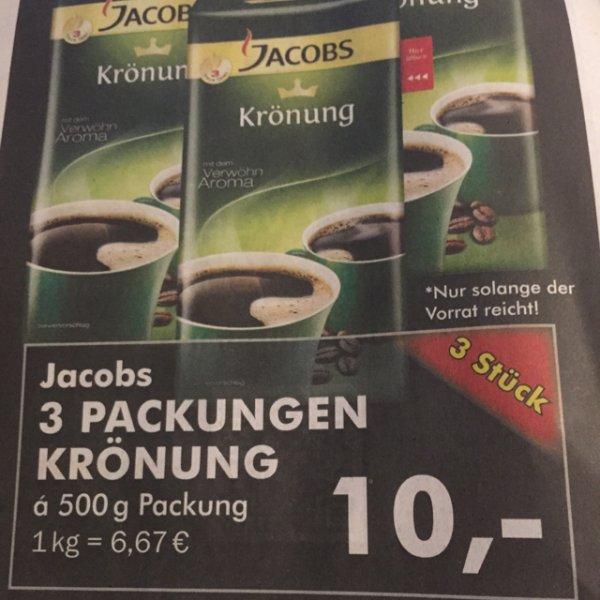 10,00€ Jacobs Krönung 3 x 500gr [Edeka] Lokal Velbert