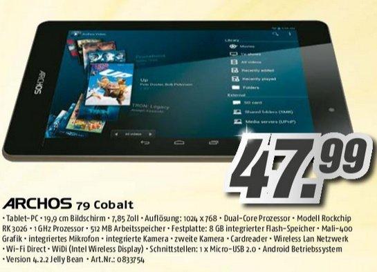 ab Montag im Medimax: Archos 79 Cobalt Android 4.22 Tablet mit 7.8'' für 47,99 €