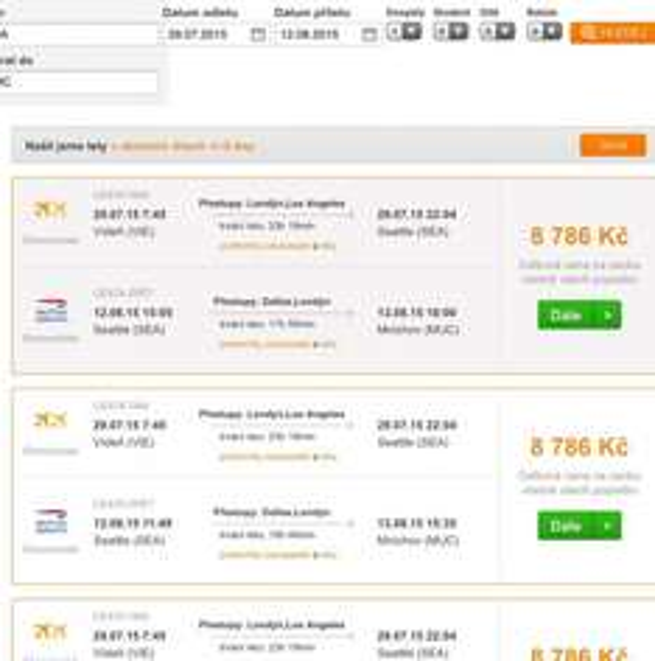 Gabelflüge für Wien-> Seattle -> Deutschland ab 318€