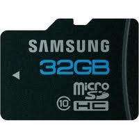 Samsung microSDHC Karte 32GB Class 10 mit Adapter