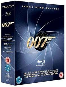 James Bond Blu-ray Collection (6 Discs) [Blu Ray] inkl. Vsk für ~ 18 € > [amazon.uk]