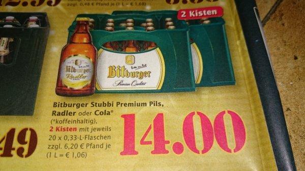 ( lokal Trier)  2 Kisten Bitburger Pils 40x 0,33