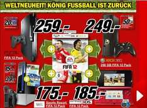 (MediaMarkt) FIFA 12 Pack mit Konsole