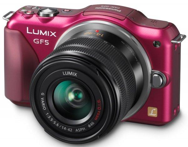 Panasonic Lumix DMC-GF5 Kit 14-42 mm (Rot) für 191,27€ @Amazon.fr