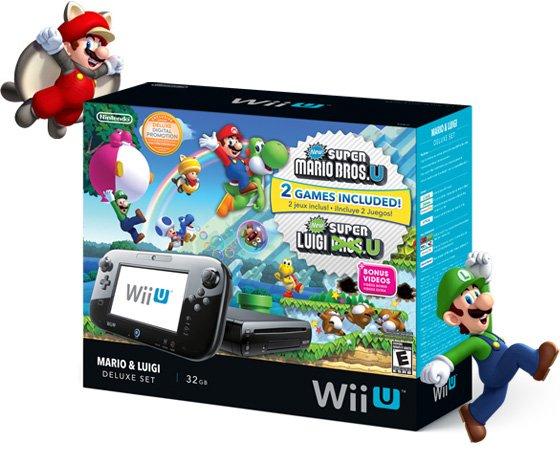 WiiU 32GB inkl. New Super Mario Bros. U + Super Luigi U + Hyrule Warrios + Super Smash Bros. Wii U + Link Amiibo für 349 EUR + ggf. VSK [MediaMarkt]