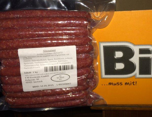 Mini Salami 2,99€/kg (Bifi Werksverkauf)