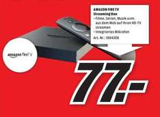 [Lokal] Amazon Fire TV für 77,- @Media-Markt Duisburg