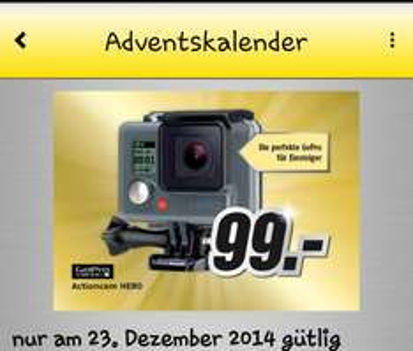 (Lokal) Medi-Max Süd-Ost ActionCam GoPro Hero für 99 Euro