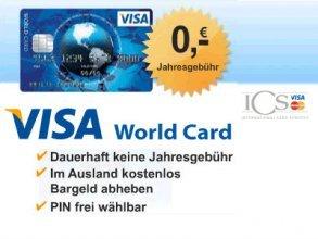 [Qipu] ICS VISA World Card mit 15 Euro Cashback von Qipu - ohne Jahresgebühr!