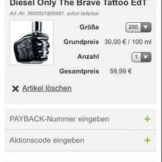 DIESEL Only the Brave 30€ / 100ml!