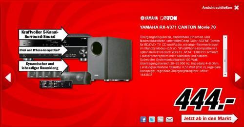 YAMAHA RX-V371 & CANTON Movie 70 Media Markt