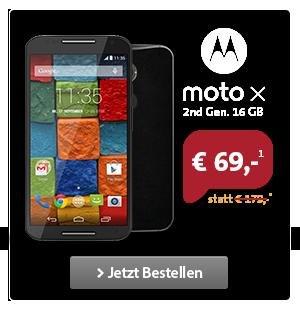 Motorola Moto X 2nd Gen für ~ 306 Euro in 2 Jahren mit Talk Easy Vertrag bei Sparhandy