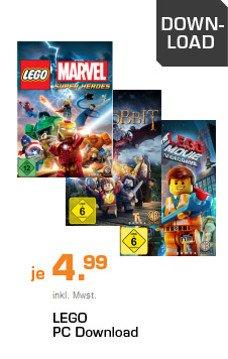 Lego Videospiele als PC Download für 5€