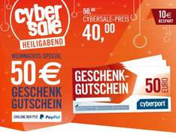 Cyberport Gutschein über 50 Euro nur 40 Euro (ab 8 Uhr)