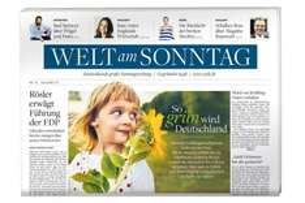 """9 Ausgaben """"Welt am Sonntag"""" für 22,20€ + 23€ Amazon Gutschein"""