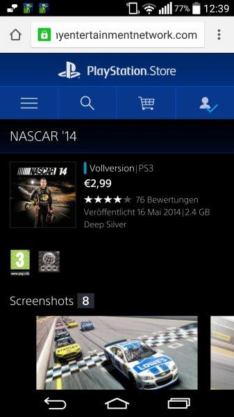 Nascar 14 (PS3) für 2,99 (Preisfehler?!) @PSN Store