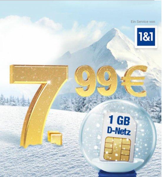 1 GB Internet & 300 Freiminuten/SMS für 7,99/Monat im Telekom Netz oder 2 GB & 300 Freiminuten/SMS für 12,99 €/Monat