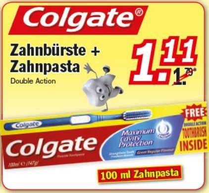 [ZIMMERMANN]KW01: 2x Colgate Zahnbürste + 2x Zahnpasta für nur 1,22€ (29.12.-31.12.)