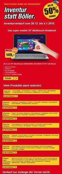Medion Sale z.B. Multitouch MEDION® AKOYA® E1317T (B-Ware)