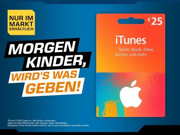 [Saturn] bundesweit - 25€ iTunes Karte für 20€