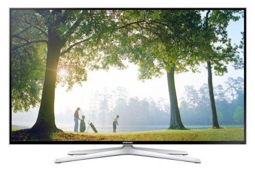 Samsung UE48H6470 121 cm (48 Zoll) 3D LED-Backlight-Fernseher, EEK A+ (Full HD, 400Hz CMR, DVB-T/C/S2, CI+, WLAN, Smart TV, Sprachsteuerung) schwarz/silber