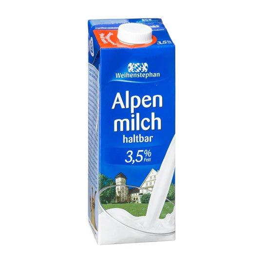 [KAUFLAND]KW01: Weihenstephan Alpenmilch H-Vollmilch 3,5% 1,0l für nur 0,66€ am Superweekend (02.+03.01.2015)