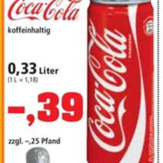 0,33 Coca Cola Dose 0,39€ - Lokal Berlin Thomas Philipps