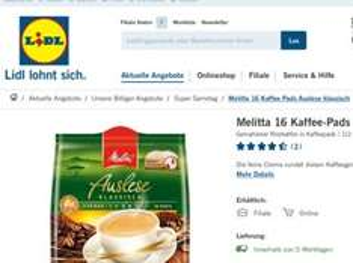 Melitta Kaffee Pads bei LIDL nur heute für 1,49€