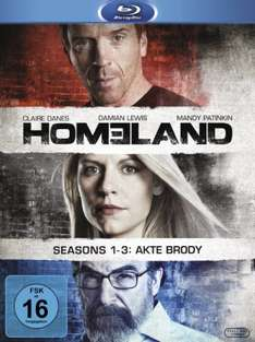 (Amazon.de) (BluRay) Homeland - Staffel 1 bis 3 (9 BD)