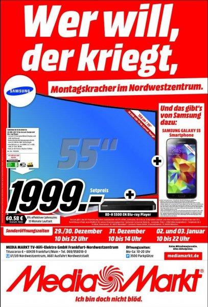 1.999,- Samsung UE 55 HU 8590 + Blu-Ray Player BD-H 5500 + Samsung Galaxy S5