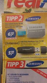 Real MicroSDHC 16GB Samsung Incl Adapter auch online