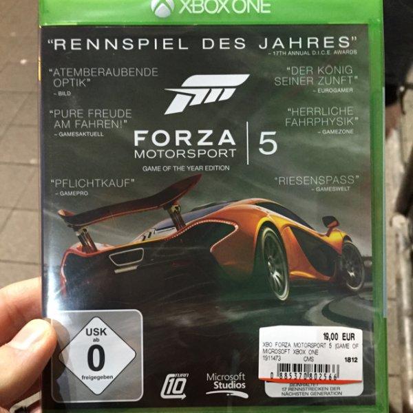 Forza 5 GotY Edition für 19€ Lokal??