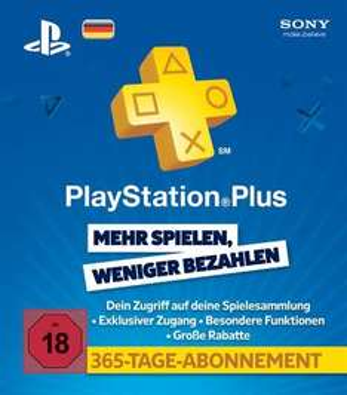 PlayStation Plus Mitgliedschaft - 365 Tage für 41€ - (myToys-Neukunden + 4% Qipu)