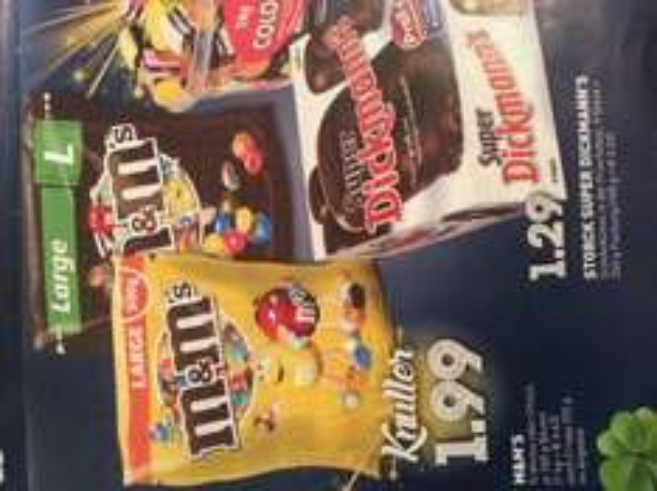 [Edeka] m&m's erdnuss/Choco je 300gr. Packung