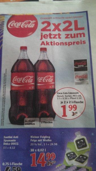 2x 2Liter Coca-Cola für 1,99 € bei Globus Neustadt an der Weinstraße
