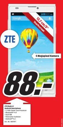 [LOKAL: Media Markt Heilbronn] ZTE Blade L2 (Dual-SIM; weiß) für 88 EUR
