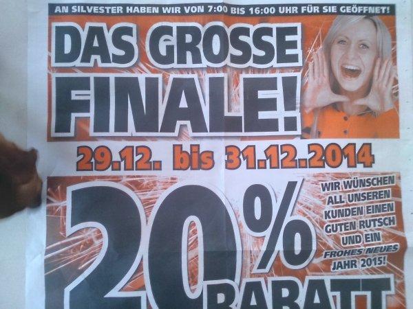 [offline] evtl bundesweit Globus Baumarkt  20%  bis 31.12 [Sammel thread]