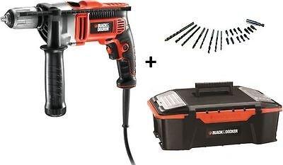 @ebay - Black Decker KR705K (750W) Schlagbohrmaschine mit Werkzeugbox u. Zubehör für 59,95€ inkl. Versand